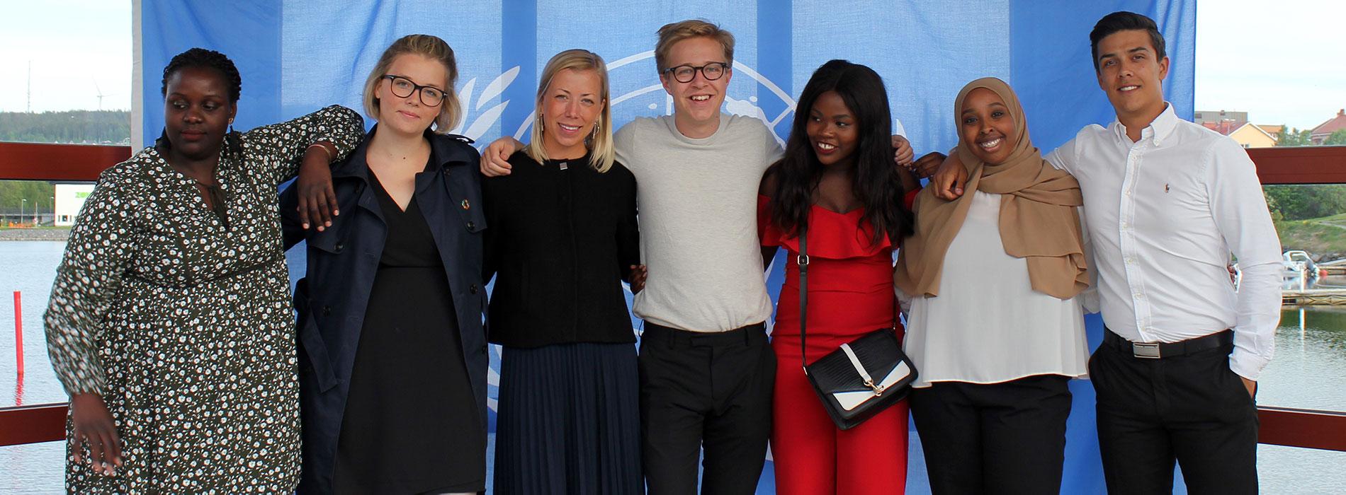 Lowe tillsammans med deltagare på UNg-helgen i Härnösand