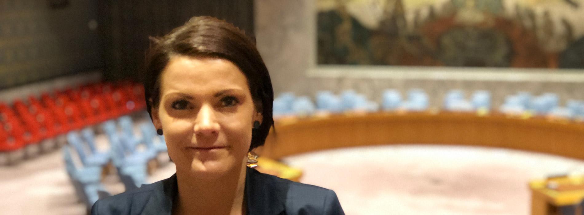 Isabella Bexell på besök hos FN i New York