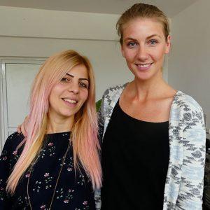 Sophia och Sona i Armenien