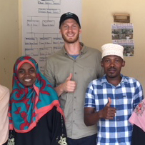 Helge och kollegor på Pemba, Tanzania