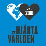 Hjärta världen inför val 2018