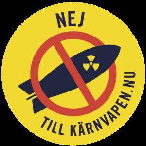 Logga för Nej till kärnvapen