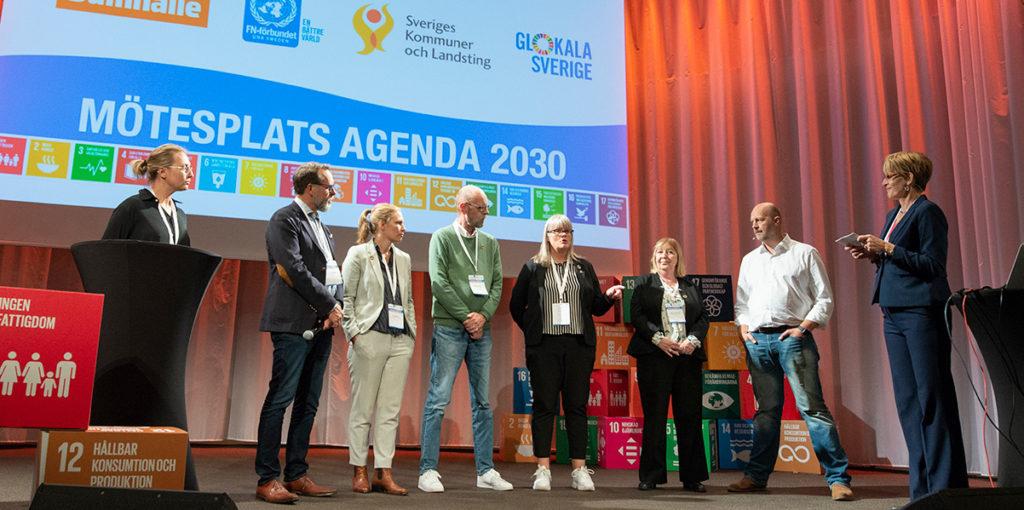 Representanter från kommuner som deltar i Glokala Sverige delar med sig av erfarenheter under Mötesplats Agenda 2030.
